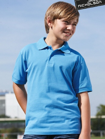 JN070K farbiges Kinder Classic Polo XS-2XL Col.2