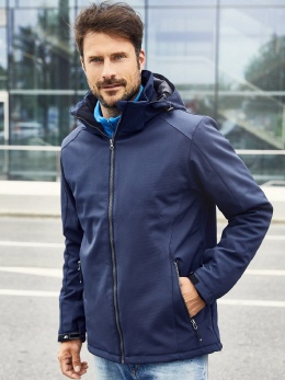 TRA682 Powergrid Hooded Softshell Jacke 3XL
