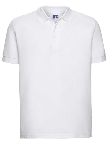 R577M-w weisses Herren Ultimate Polo 4XL