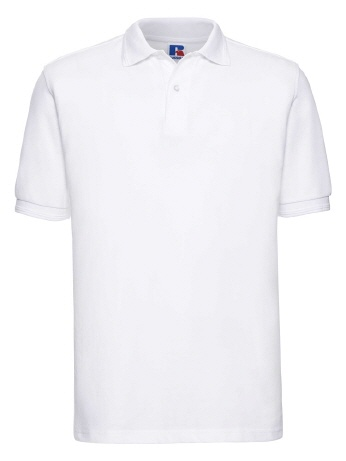 R599M-w weisses Robust Poloshirt -6XL