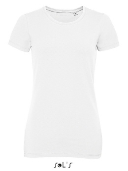 E3086-w weisses Damen Slim Stretch T-Shirt XS-2XL