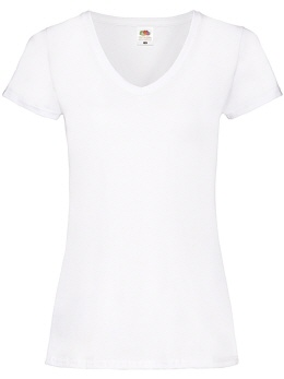 L191-w weisses Imperial Damen T-Shirt, R-Neck