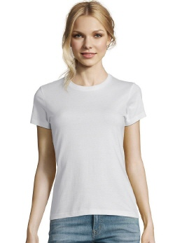 R155F-w weisses Damen Slim T-Shirt