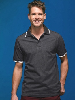 PW618 farbiges Contrast Coolchecker® Polo S-4XL